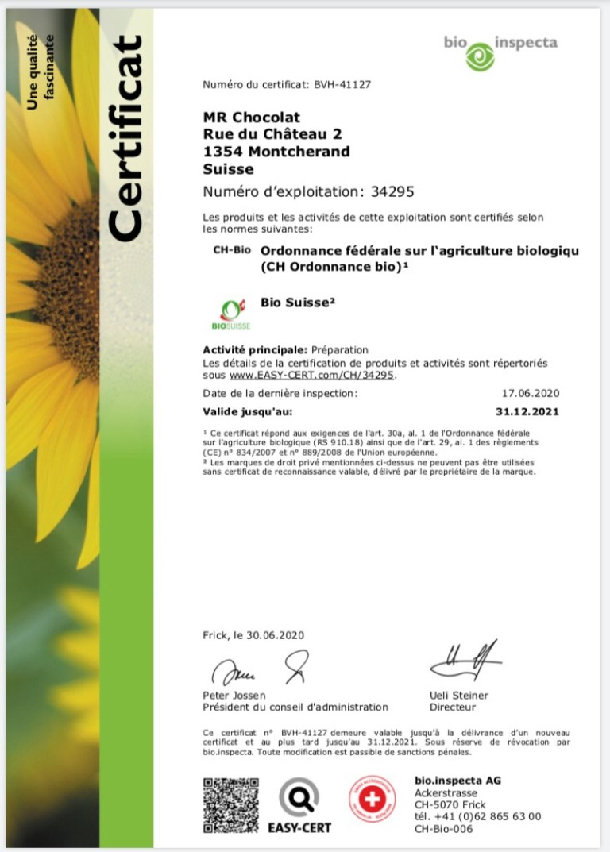 certificat 2020