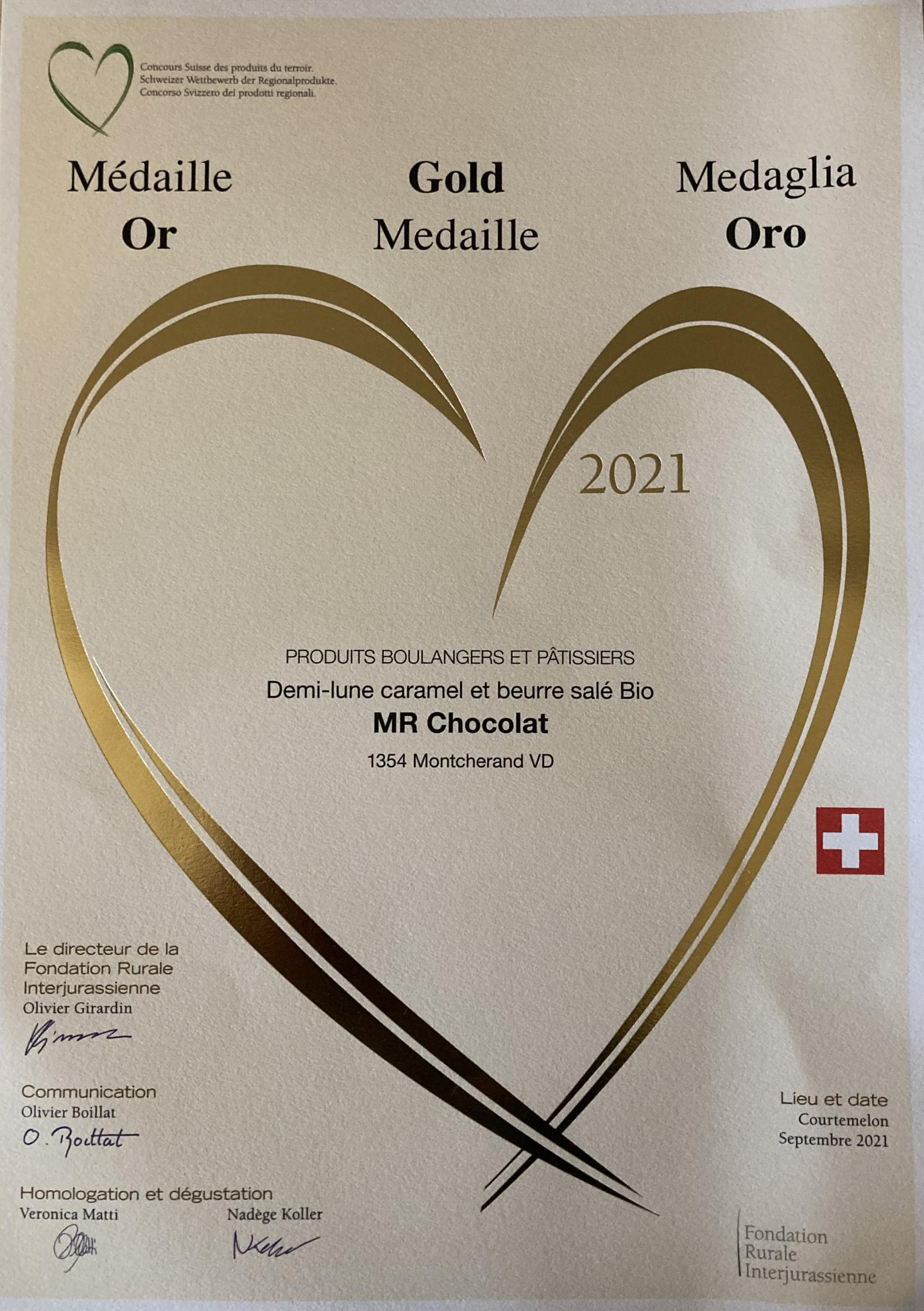 médaille or 2021