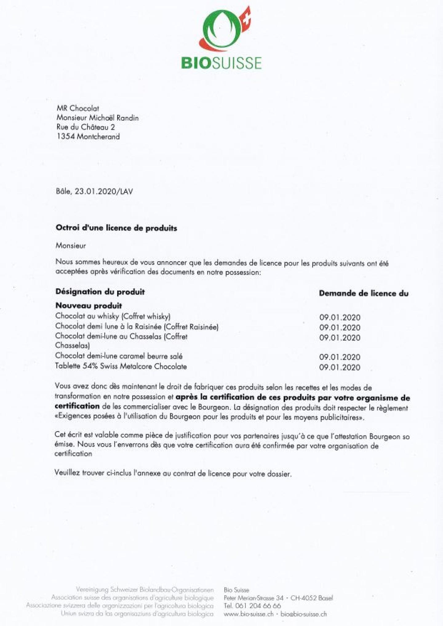 Capture bio suisse certification