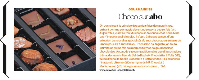 Article  fémina Séléction chocolatier