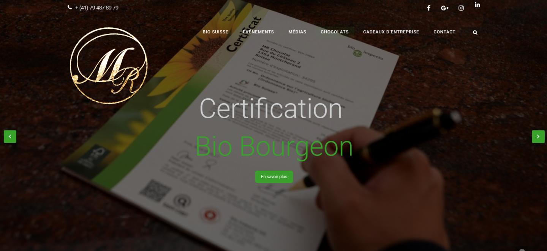 Capture de lancement du nouveau site