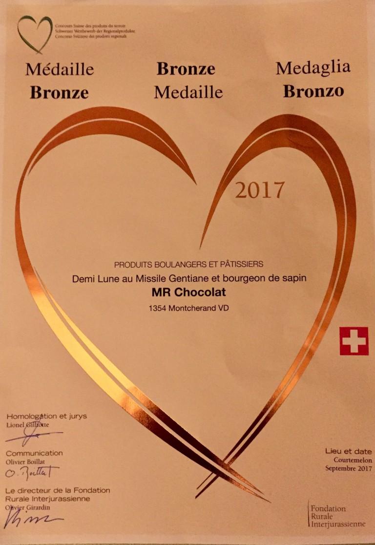 Médaille de bronze 2017